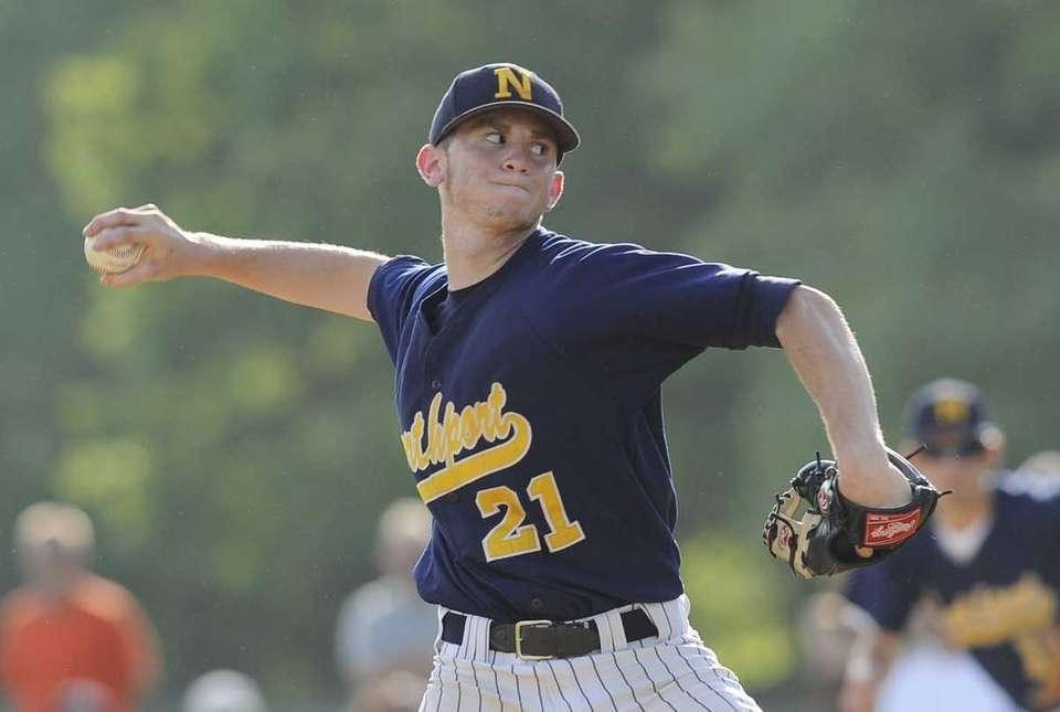 Northport pitcher Brandon Fischer delivers to the plate