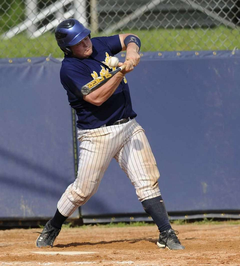 Northport's Lucas Vallas drives the ball to center
