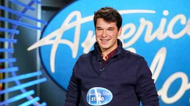 "Christiaan Padavan at his ""American Idol"" audition."