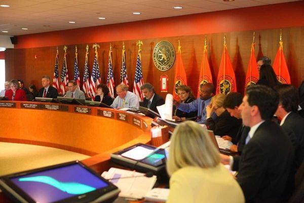 Nassau Legislator David Denenberg along with other members