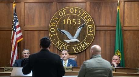 The Oyster Bay Town Board hears proposals for