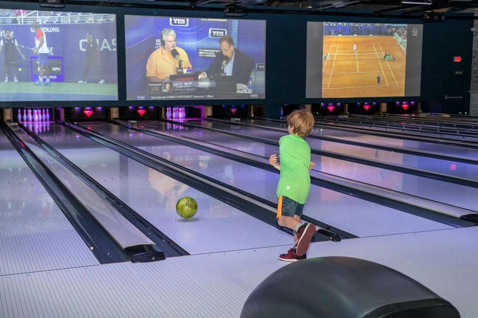 Ten lanes of bowling at the Clubhouse in