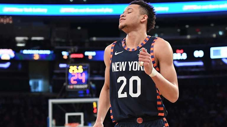 Knicks forward Kevin Knox against the Los Angeles