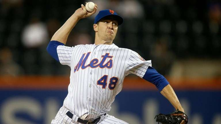 Mets righthander Jacob deGrom at Citi Field against