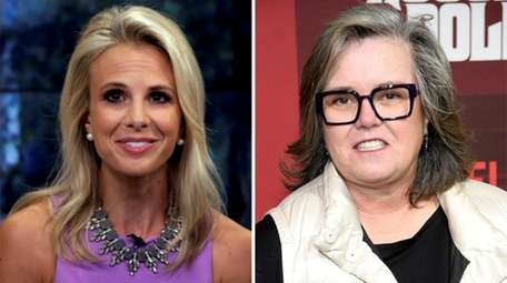 Elisabeth Hasselbeck, left, in 2013, and Rosie O'Donnell