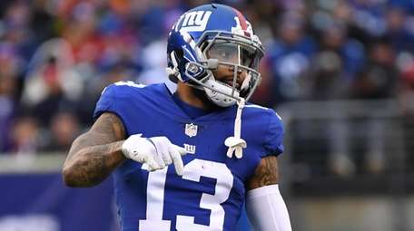 Giants wide receiver Odell Beckham Jr. waits on