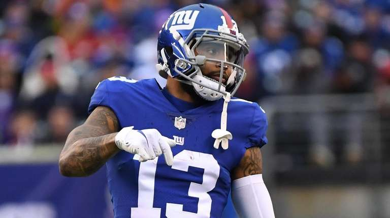 Giants wide receiver Odell Beckham Jr. waits on