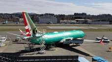 A Boeing 737 Max 8 on Friday at