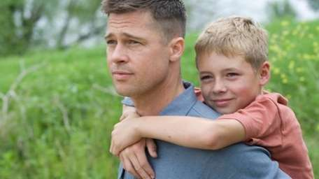 Brad Pitt and Laramie Eppler in the