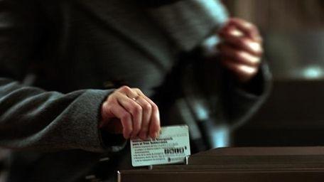 MetroCard swipe