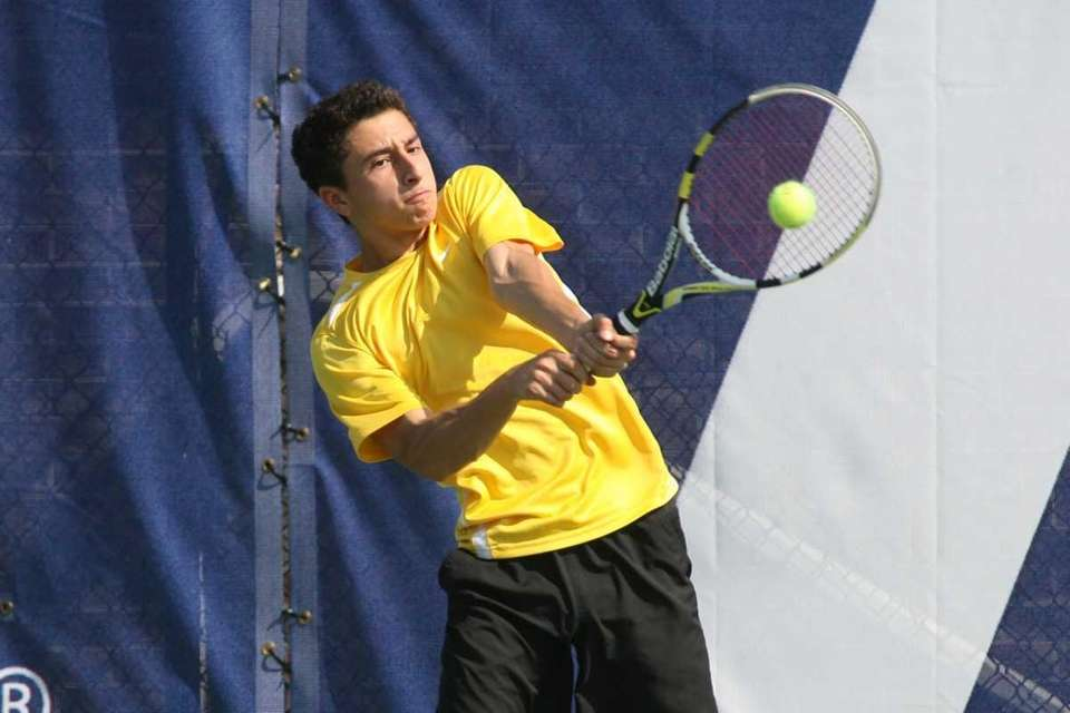 John D'Alessandro of St. Anthony's competes against St.