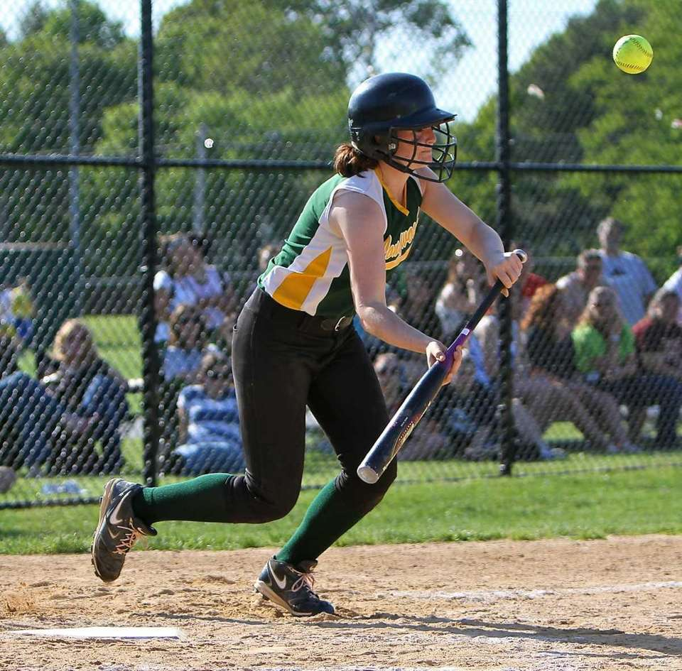 Longwood's Sierra Noud lays down a bunt for