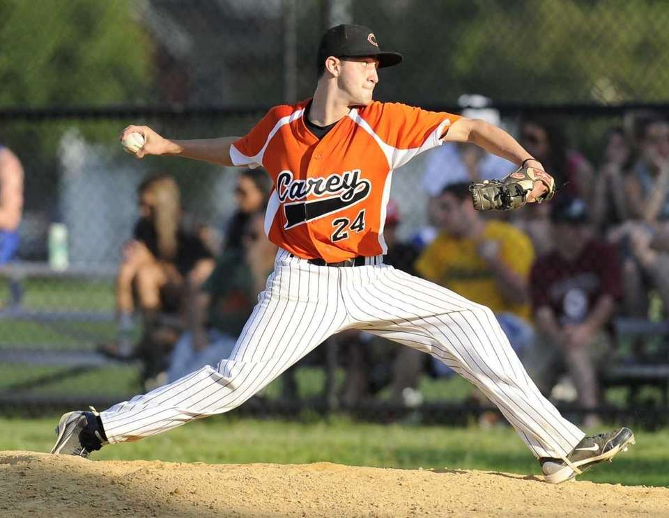 Carey pitcher Jesse Montalto pitches in the sixth