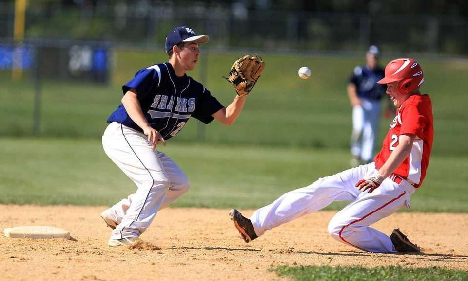 Connetquot's Casey Baker (2) slides into second and