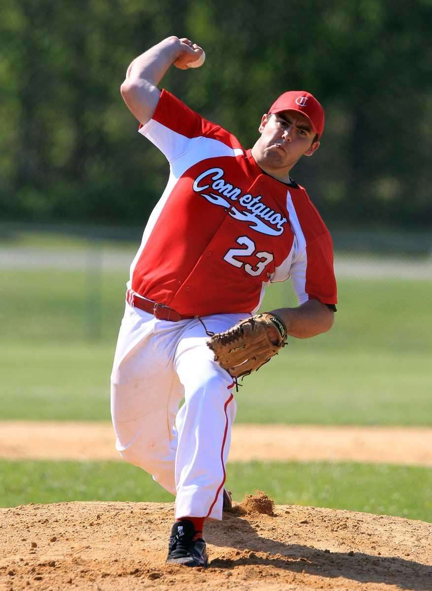 Connetquot starting pitcher Ryan Lewis (23). (May 25,