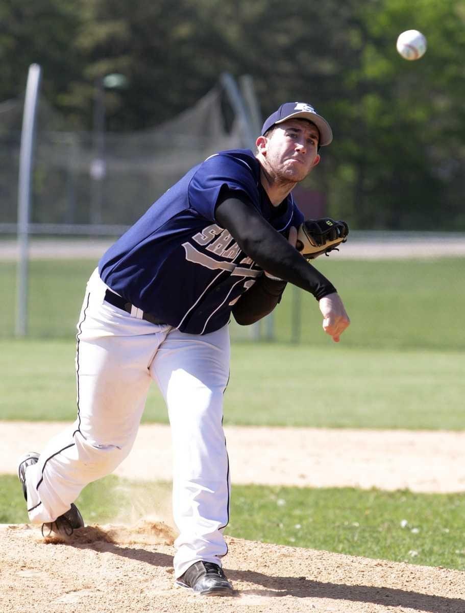 Eastport's starting pitcher Joe Palmeri (18). (May 25,