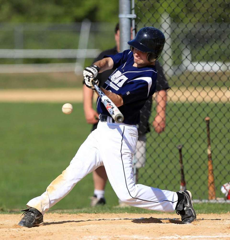 Eastport's Ryan McCormick (1) with a hard grounder