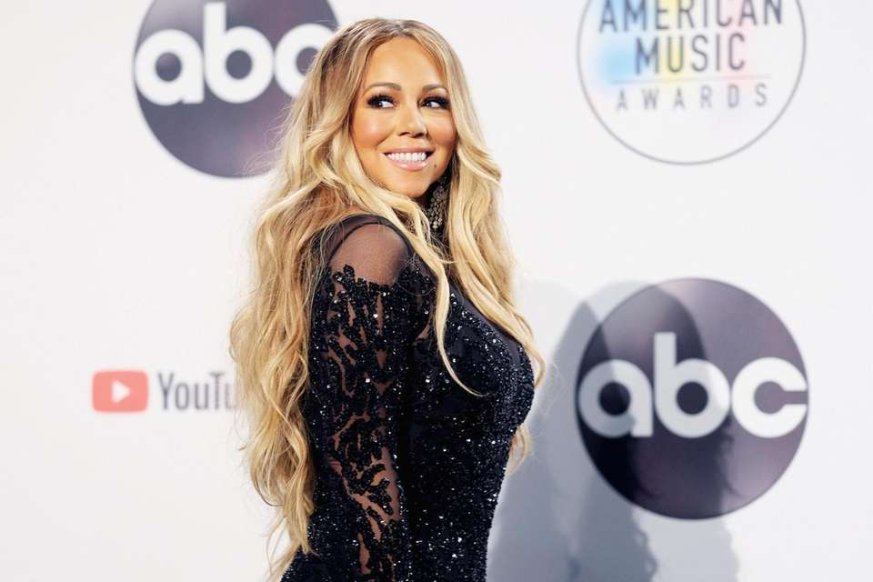 Mariah Carey in the press room during the