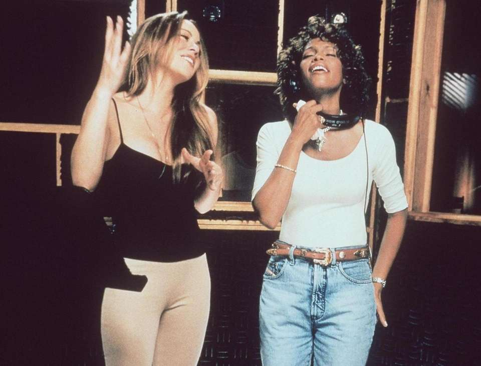 Mariah Carey and the late Whitney Houston record