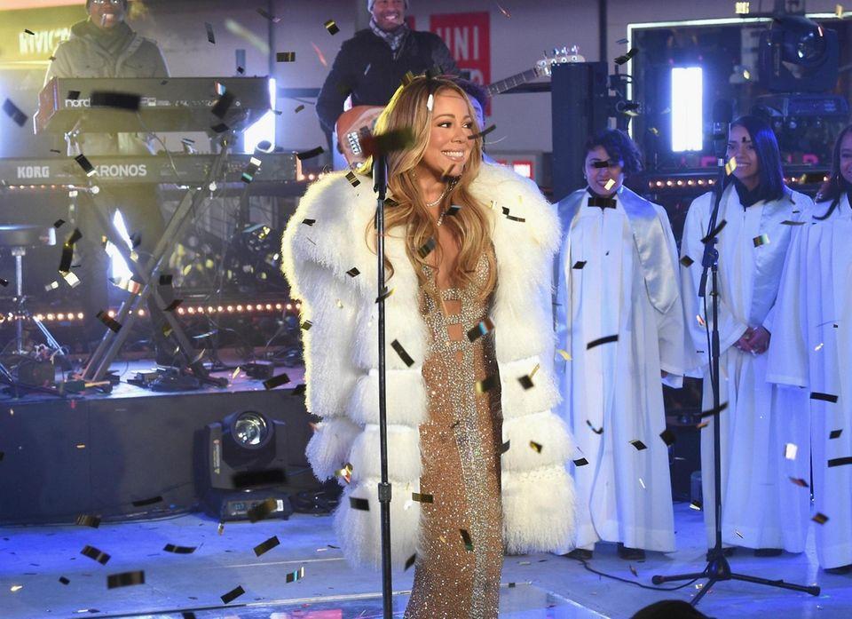 Mariah Carey performs at the