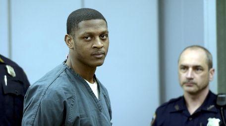 Jamel Turner in court in Central Islip in