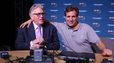 "Chris ""Mad Dog"" Russo, right, and Mike Francesa"