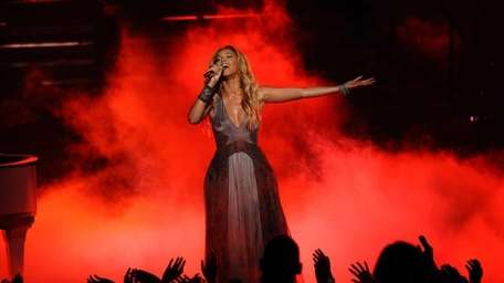 Special guest Beyonce performs during the Season 10