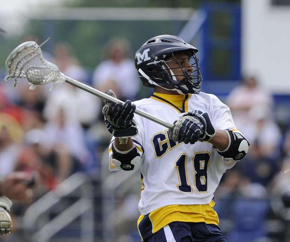 Massapequa midfielder Andrew Tralongo looks to shoot and