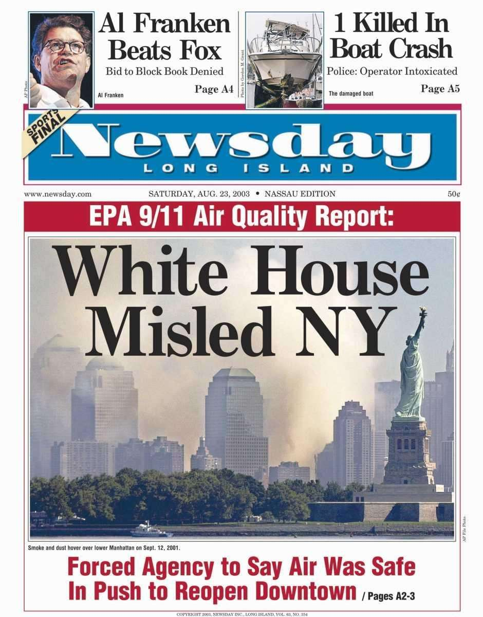 Saturday, August 23, 2003. Read the story