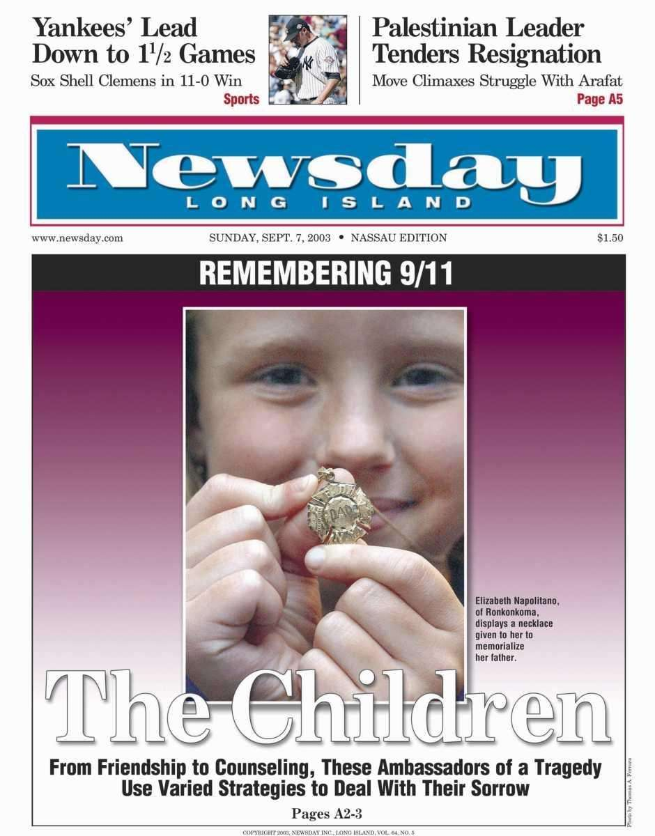 Sunday, September 7, 2003 (Nassau) Read the story