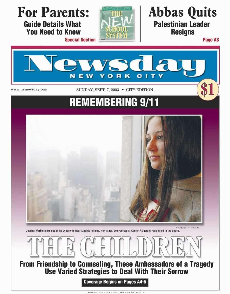 Sunday, September 7, 2003 (NYC). Read the story