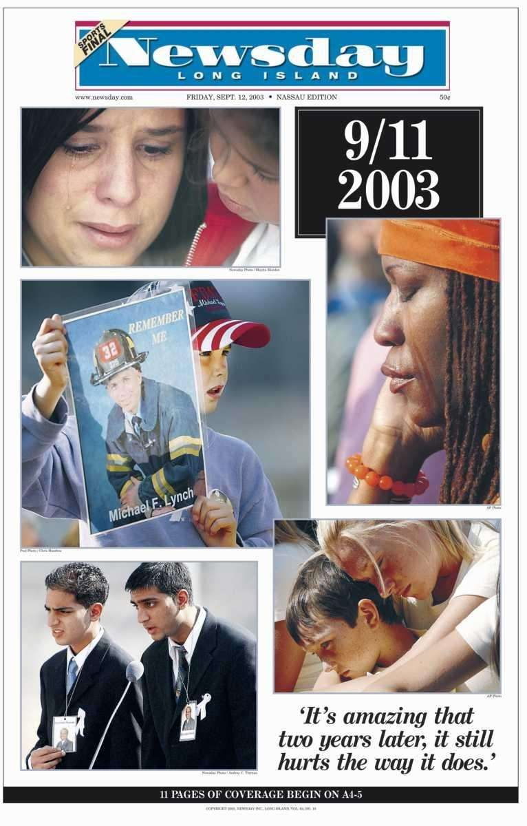 Friday, September 12, 2003. Read the story