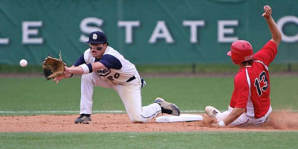 St. Dominic second baseman Vinny Orlando waits for