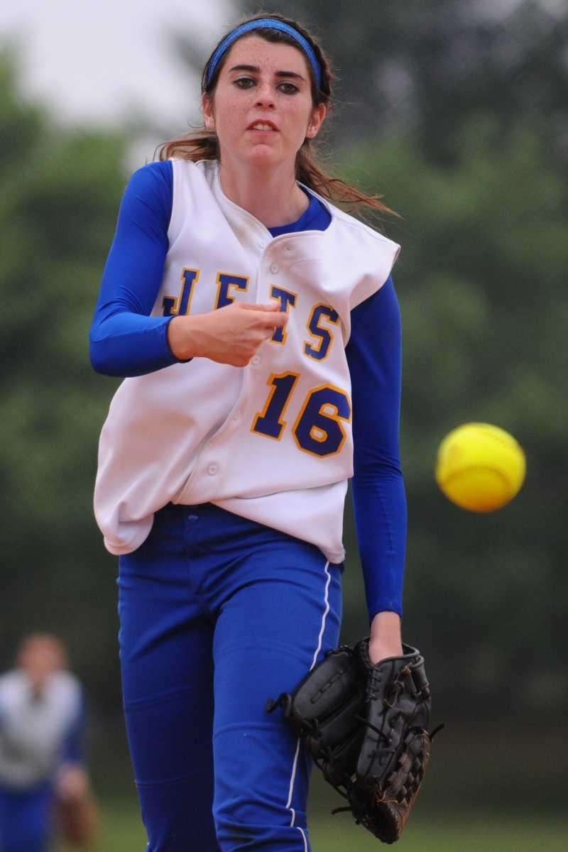 East Meadow High School pitcher #16 Kerri Shapiro