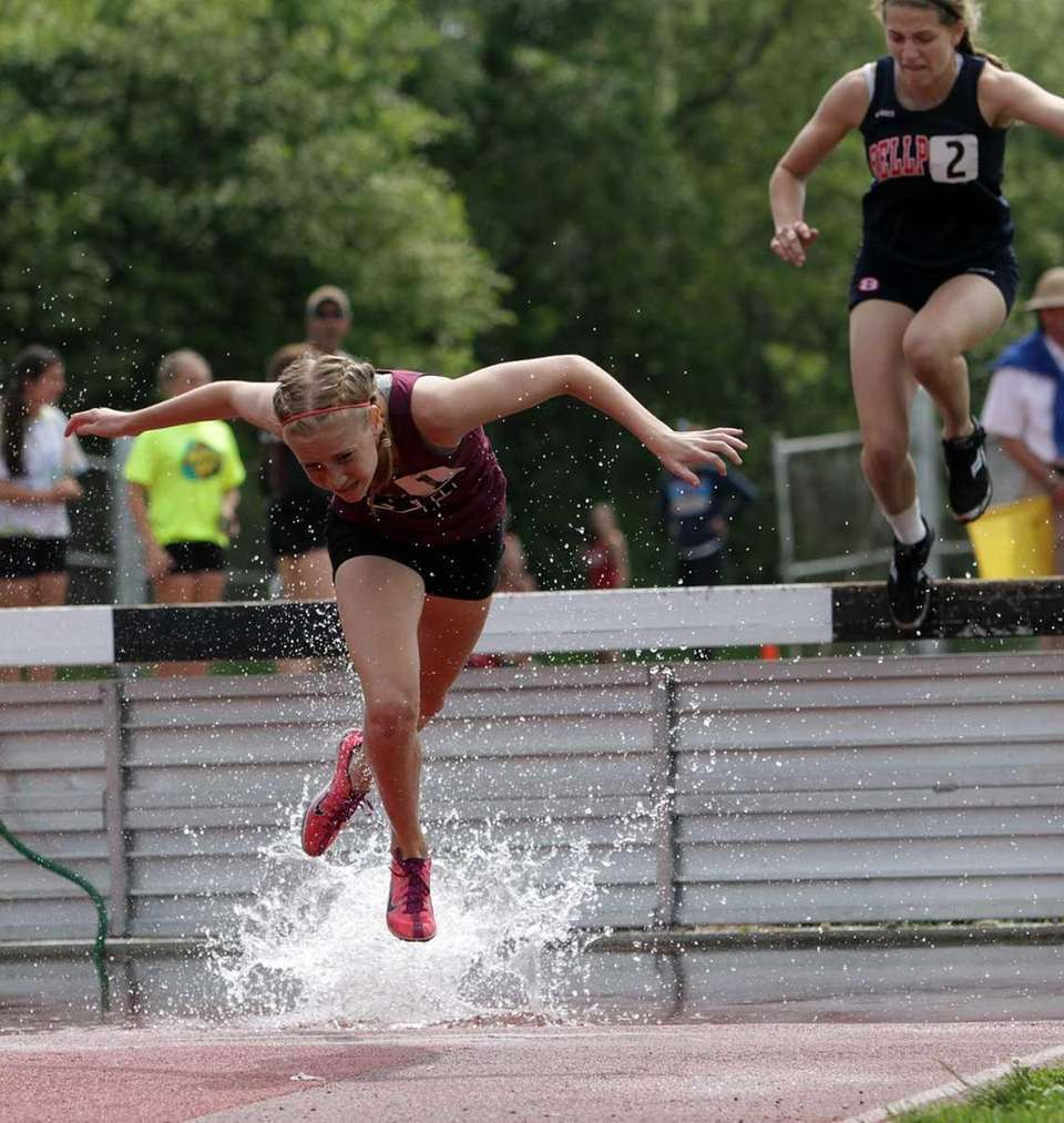 King's Park's Shannon Ahern keeps her balance and