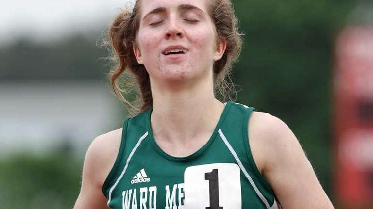 Mary Kate Anselmini of Ward Melville can relax