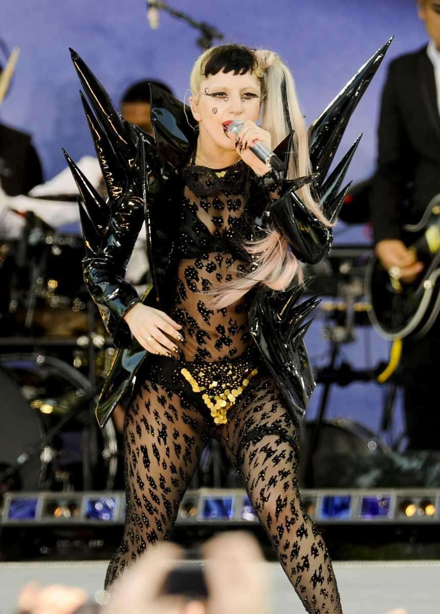 Musician Lady Gaga performs on ABC's