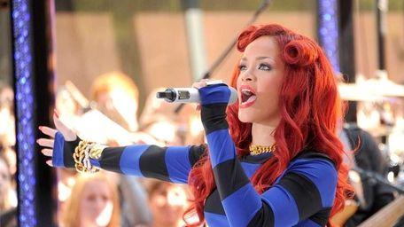 Rihanna performs on NBC's