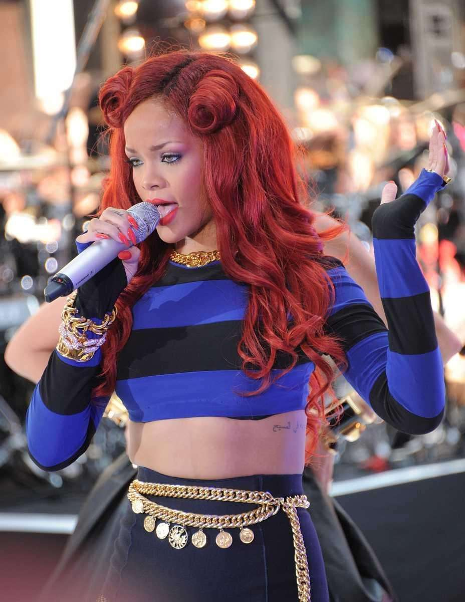 Singer Rihanna performs on NBC's