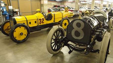 At left, Marmon Wasp, the car that won