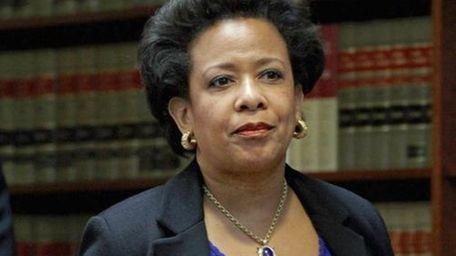 U.S. Attorney Loretta Lynch at a news conference
