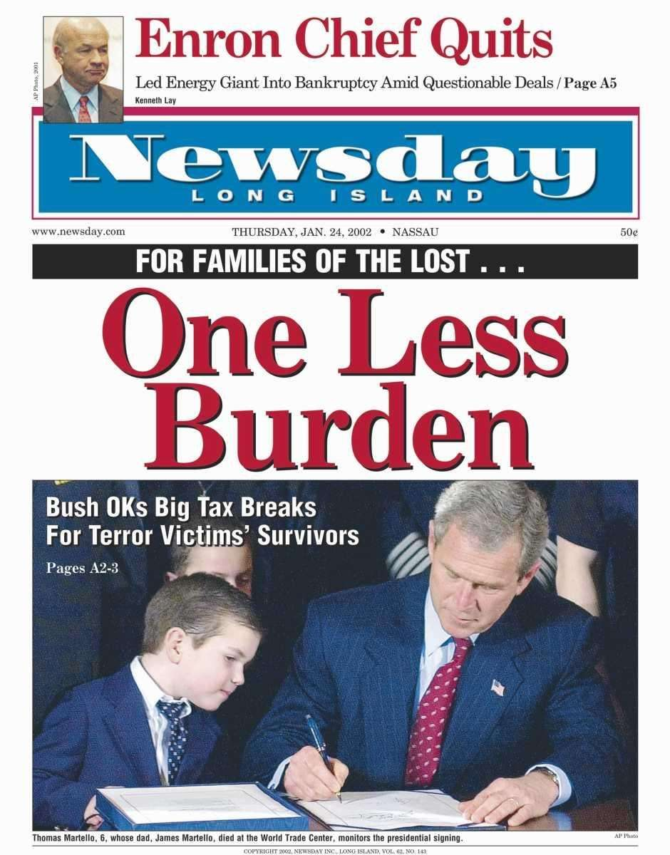 Thursday, January 24, 2002. Read the story