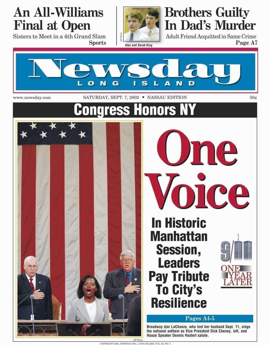 Saturday, September 7, 2002. Read the story