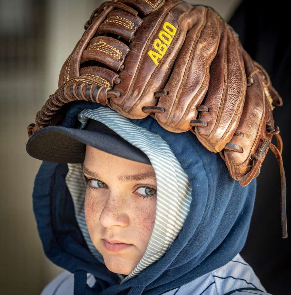 NY Yankee fan Tyler Moroni, 11, of Yonkers