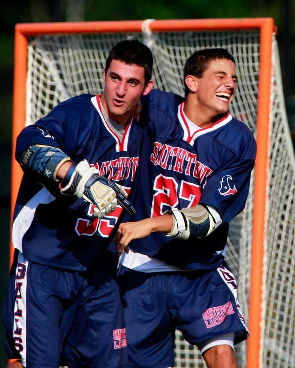 Smithtown West's Marco Mosleh, left, and Dylan Gruder,