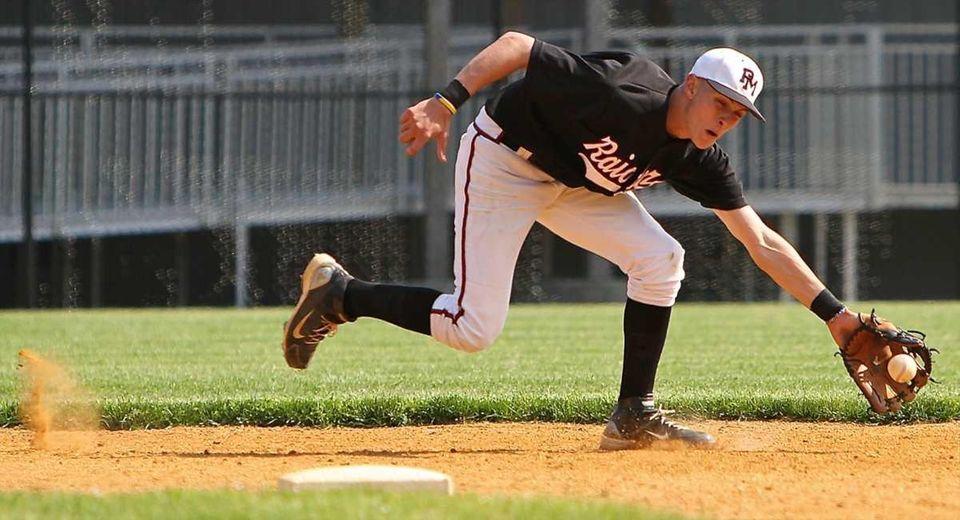 Pat-Med shortstop Matt Vogel #2 grabs a ground