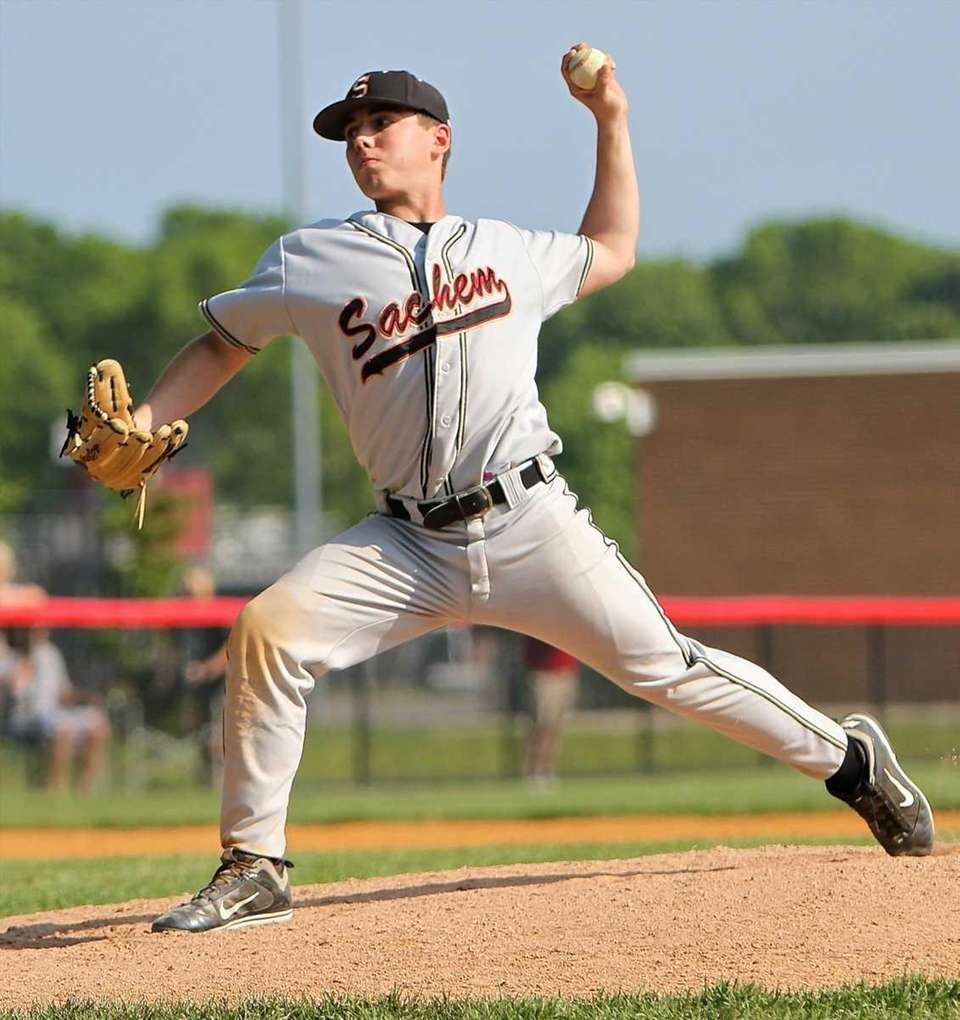 Starting pitcher for Sachem North Brian Hennelly. (May