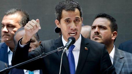 Opposition leader Juan Guaido, self-proclaimed interim president of