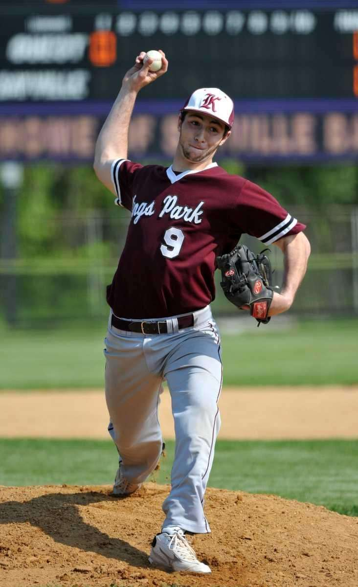 Kings Park senior Nick Venier (9) throws a