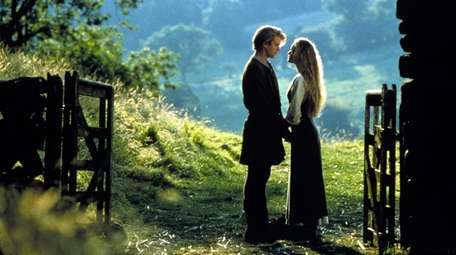 Actors Cary Elwes and Robin Wright in a